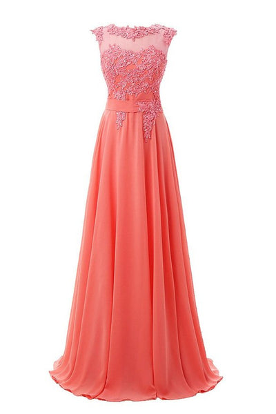 Style 4317 - Embroidered Lace & Chiffon Sleeveless Evening/Prom Dress - Avail up to Size 26W