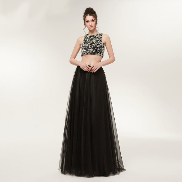 Style 4326 - Ebony Pearl 2-Piece Prom/Evening Dress - Avail up to Size 26W