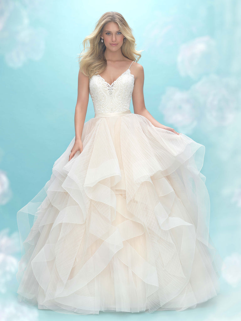 SAMPLE  - Plus Size Tulle And Lace Fantasy Boho Wedding Dress