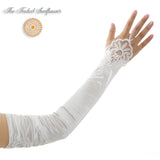 Vintage Opera Length with Wrist Lace Bridal Gloves