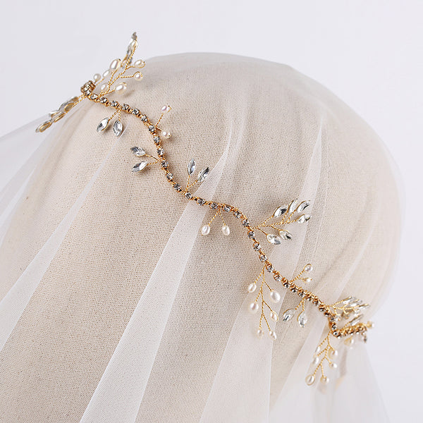 The Agathe Bridal Head Band