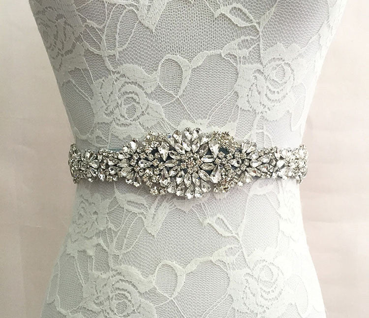 The Alicia Austrian Crystal Bridal Belt – Available in 12 Colors