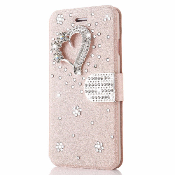 All My Heart Crystal Leather Phone Case