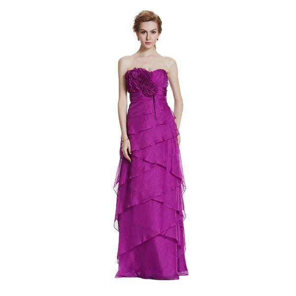 The Allie– Asymmetrical Chiffon & Ruffles  Evening Gown