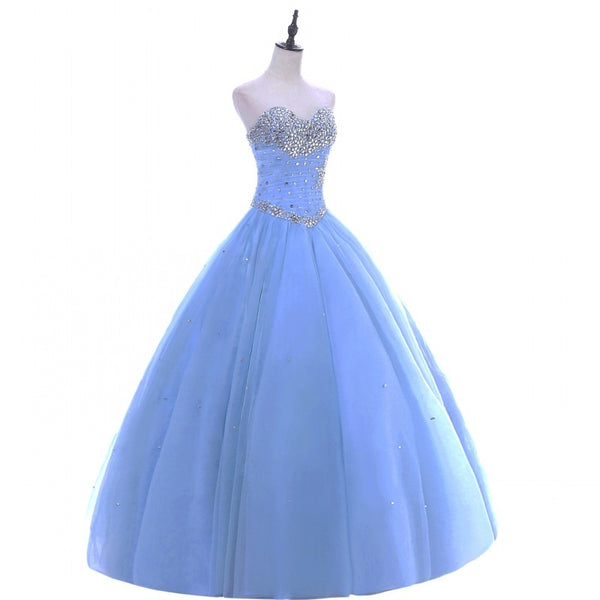 The Angeline :: Rhinestone Studded Fairy tale Quinceanera Ball Gown