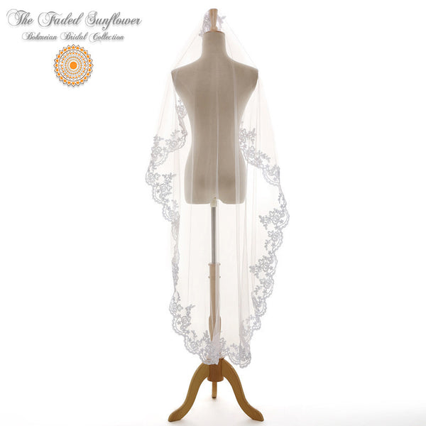 The Aurora - Vintage Bridal Veil