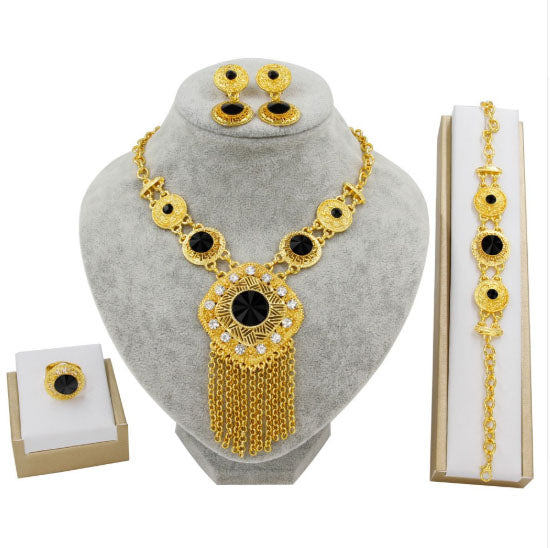 24K GP Aztec Tassel 5-Piece Set