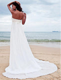 Beaded Chiffon Beach Wedding Dress :: Autumn Collection