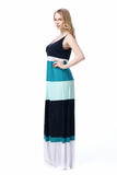 Boho Chic Summer Striped Maxi Beach Dress   – Plus Size up to 20W
