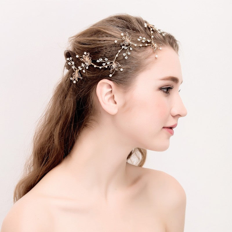 Handmade Gold Leaf and Vine – Bridal Headband