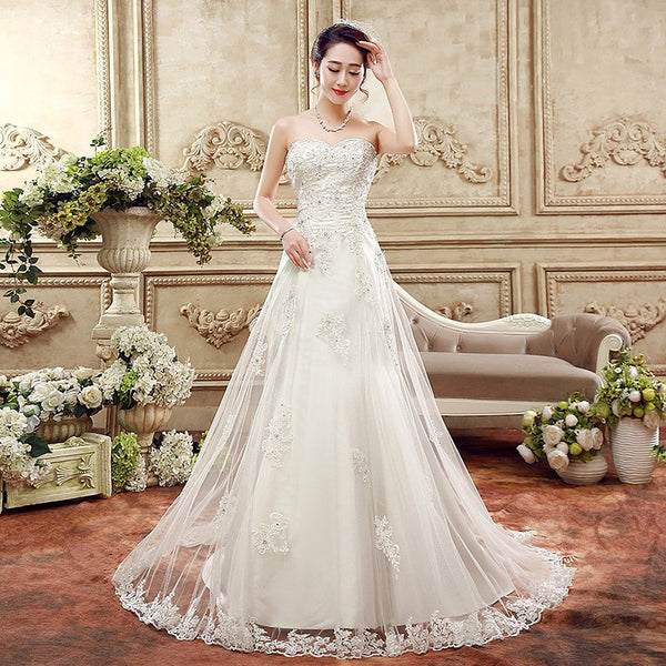 The Bernice - Sweetheart Lace & Tulle A-Line Wedding Gown