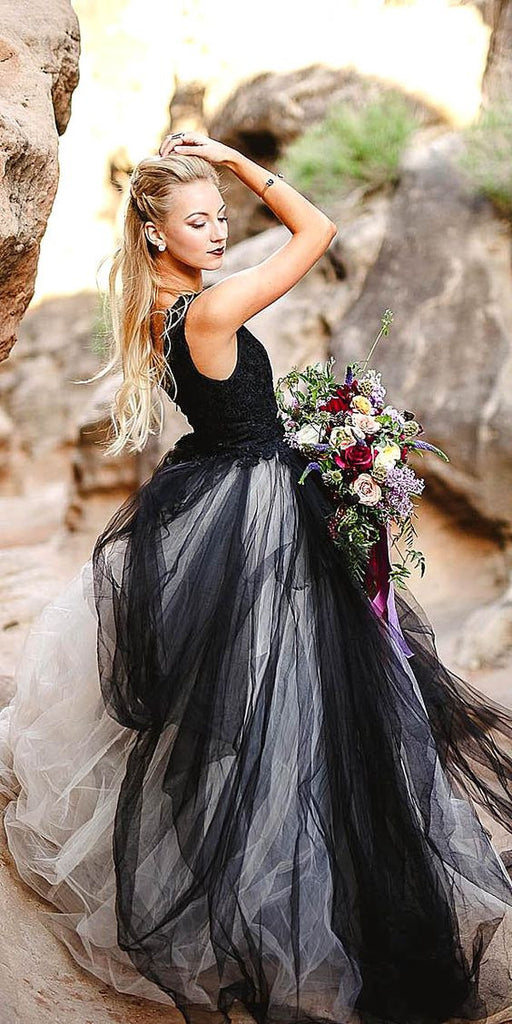 Tulle and Lace Boho Ballgown Style Wedding Dress