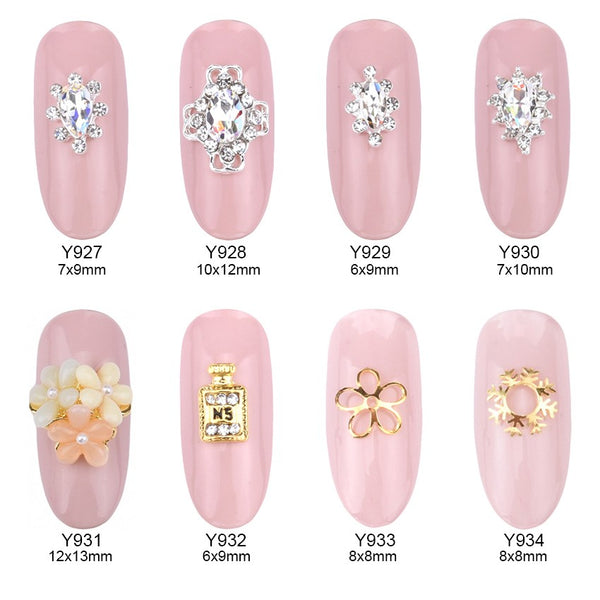 So Much Bling! Wedding Nail Art - Collection 2 – 10 pc Sets