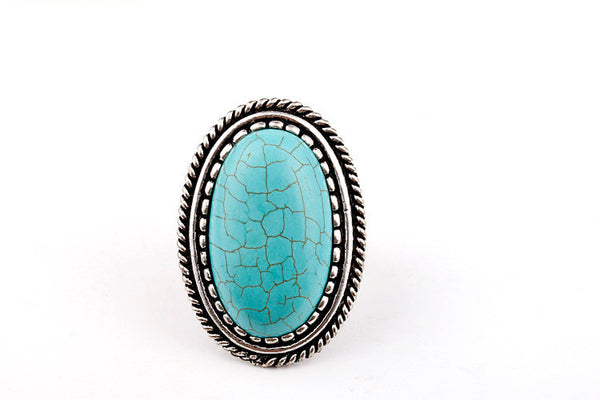 Bohemian Antique Silver Personality Ring