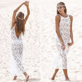 Bohemian Lace Maxi Dress Cover Up