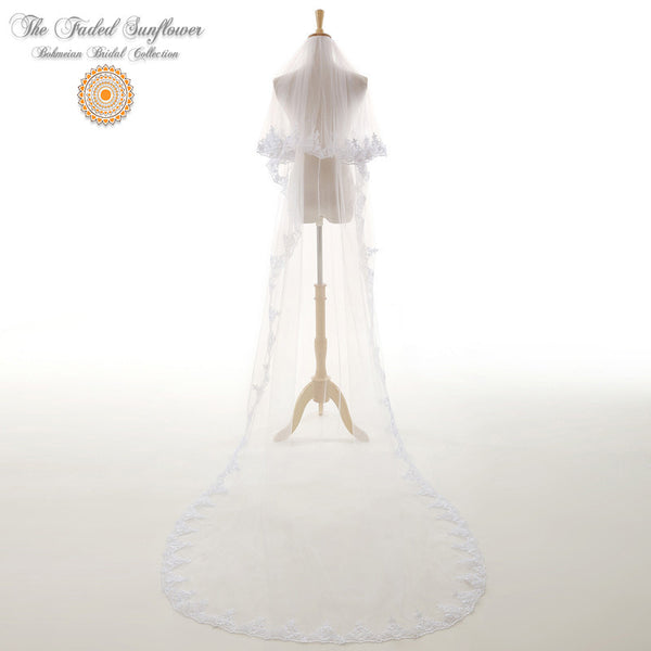 The Ashley - Vintage Bridal Veil