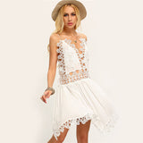 Boho Chic Sexy Summer Loop and String Mini Dress