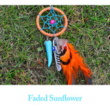 Boho Natural Feather & Turquoise Dream Catcher Key Chain