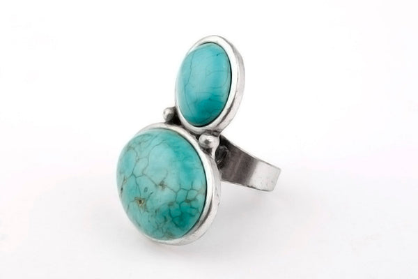 Boho Retro Antique Double Circle Ring