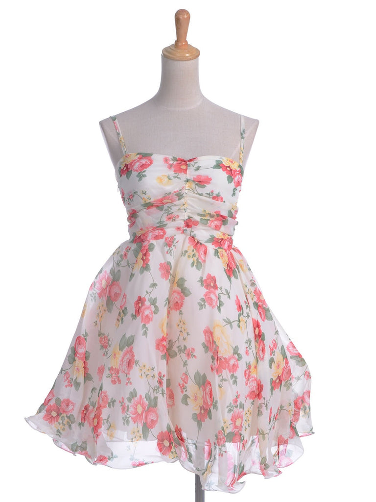 Vintage Summer Floral Mini Dress
