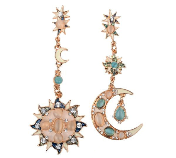 Bohemia Sun and Moon & Star Earrings