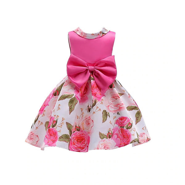 Bow & Roses Spring Flower Girl Dress Sizes 2T – 10