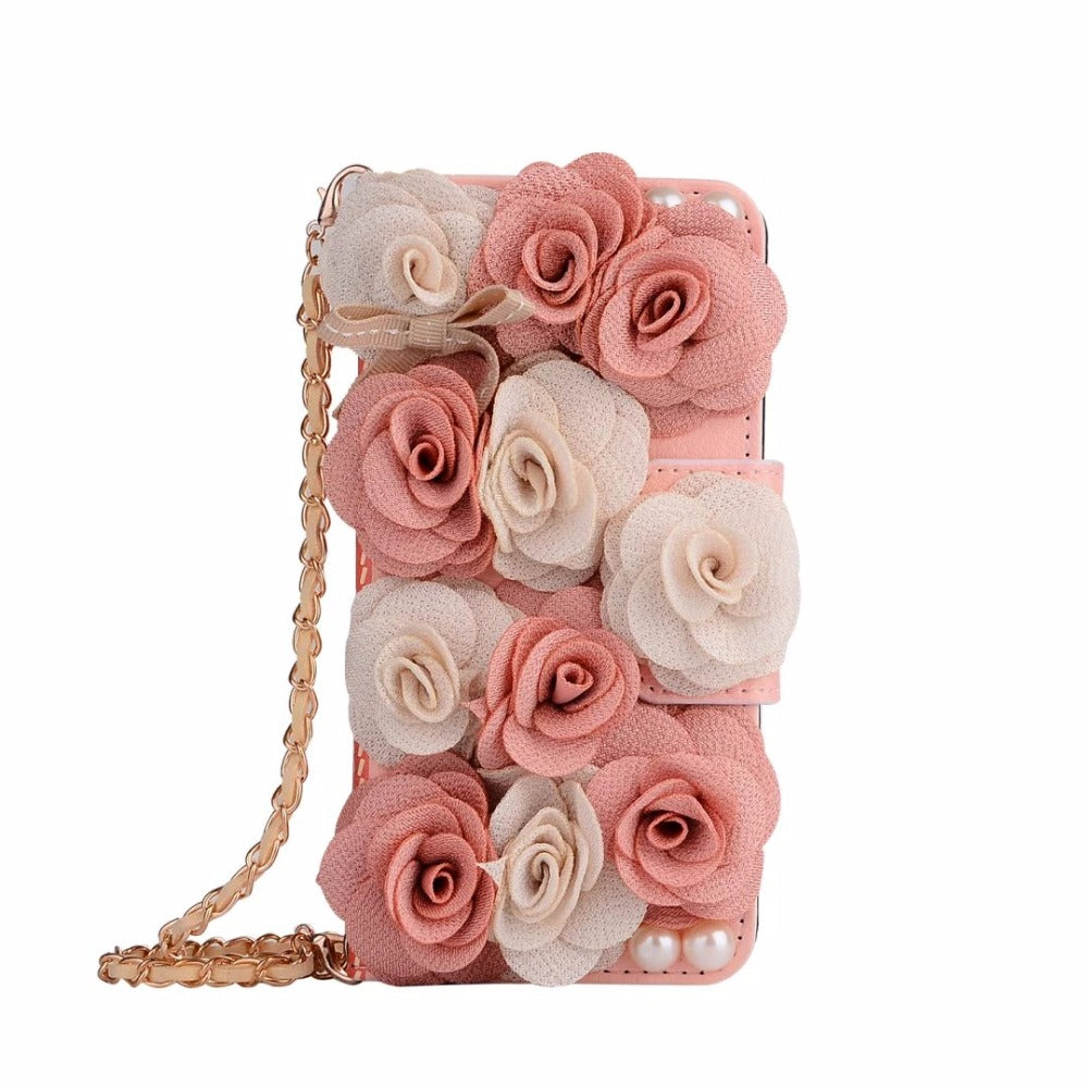 Bridal Bouquet Floral Leather Phone Casewallet The Faded Sunflower