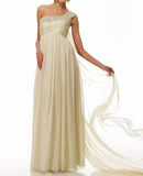Boho Style Grecian Beaded Wedding Dress