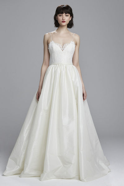 Inspired by the Amsale Carey :: Lace & Taffeta Ball Gown :: Avail. Up to 26W :: On Sale $200 Off & Free US Shipping!