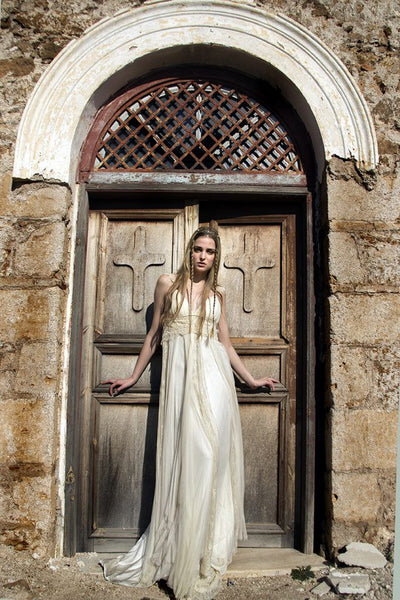 Inspired by the Celia Dragouni Collection :: Greek Goddess Wedding Dress :: Use Code: BOHO200 for $200 Off & Free US Shipping!