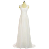 The Cloe - Lace & Chiffon Keyhole Back Beach Wedding Dress