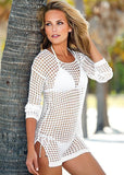 Bohemian Crochet Hollow Out Cover Up