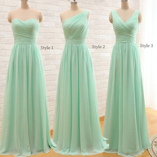 Boho Ruched Chiffon Bridesmaids Dress - Available in Sizes up to 28W