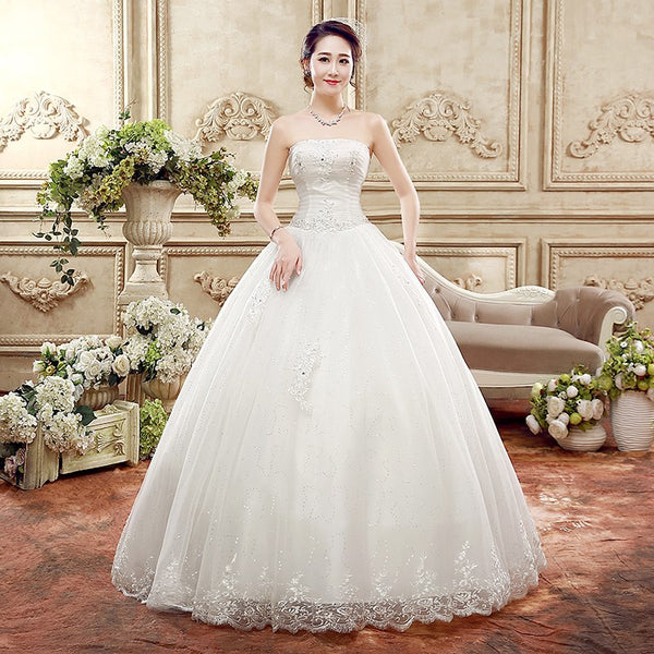 The Crystal - Crystals & Lace Tulle Ball Gown Style Wedding Dress