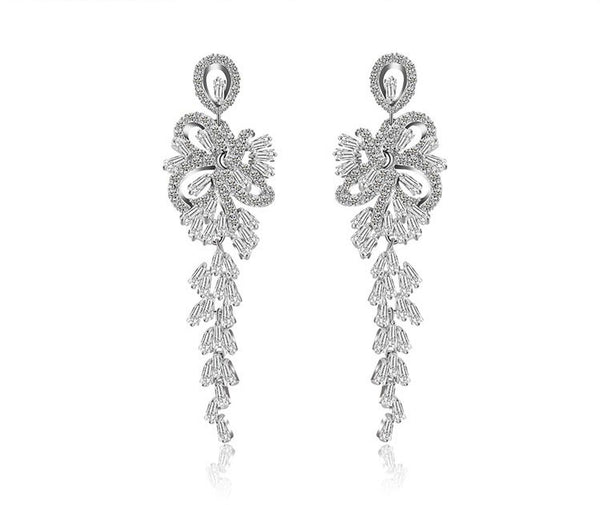 Luxury Crystal Chandelier Bridal Earrings