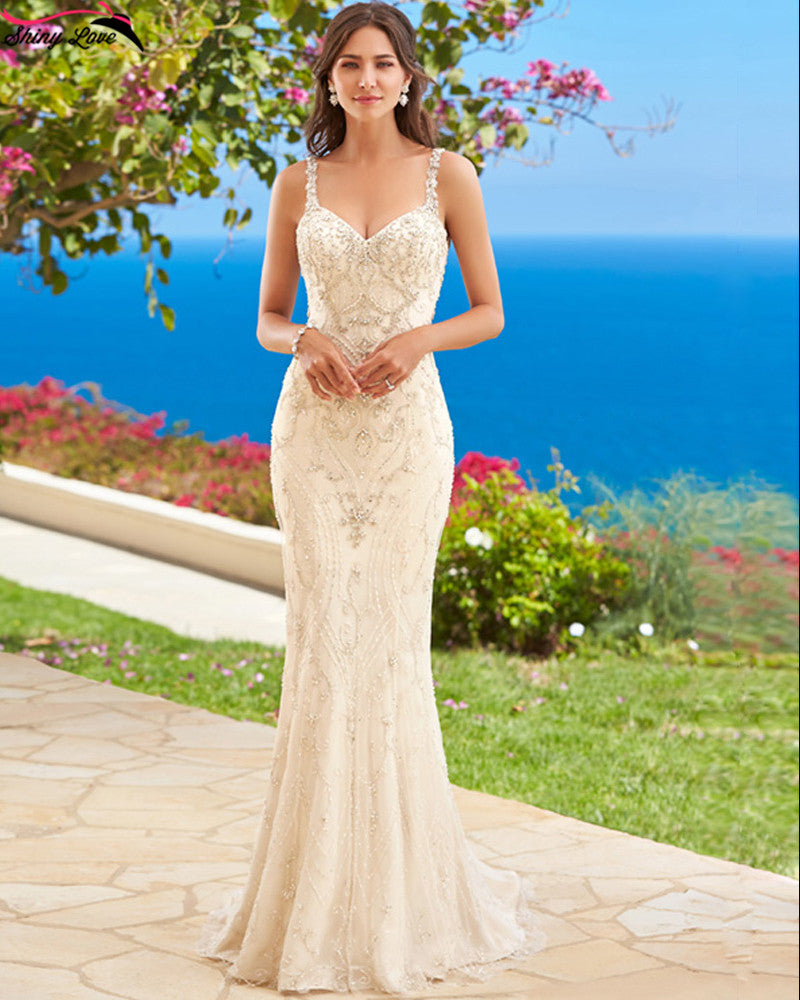 Hand Beaded Couture Style Mermaid Wedding Dress  :: Autumn Collection