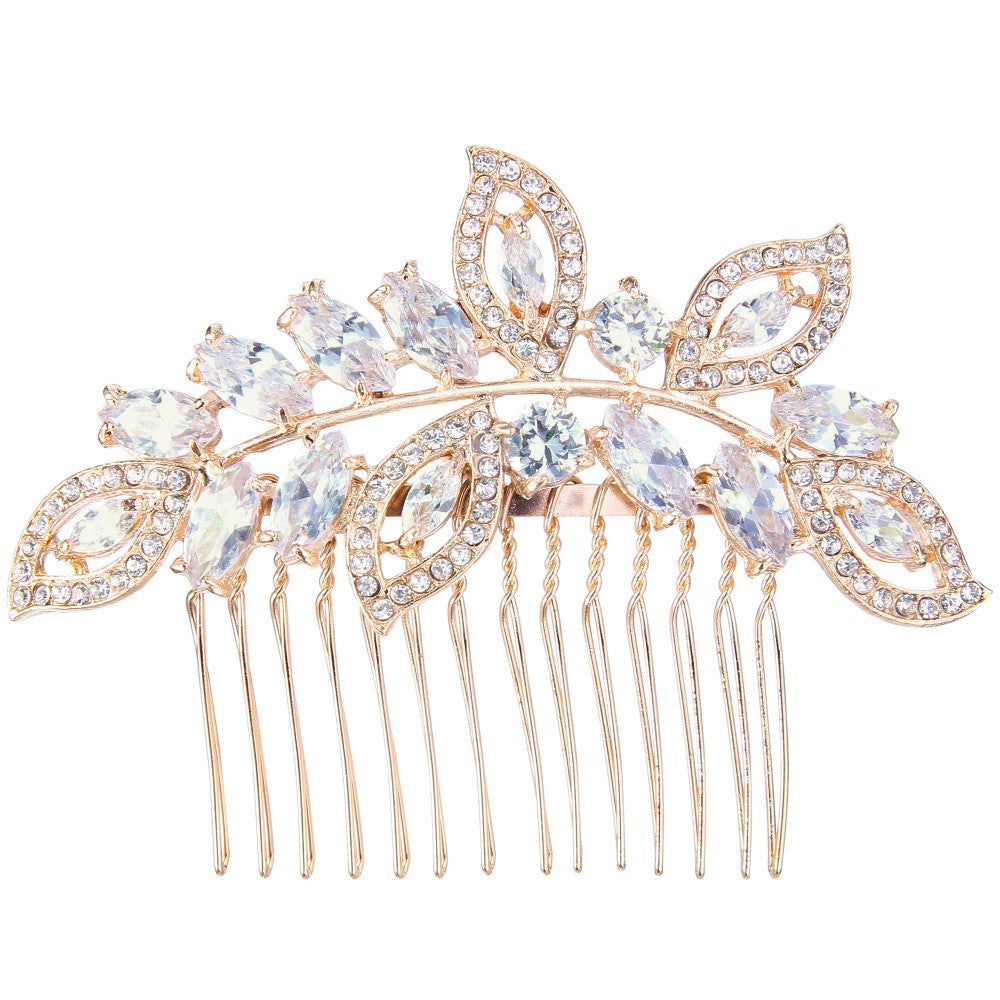 Crystals & Leaves Bridal Comb
