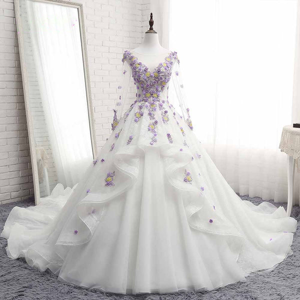 The Daisy :: A Faded Sunflower Exclusive Design – 3D Embroidered Floral Quinceanera Ball Gown