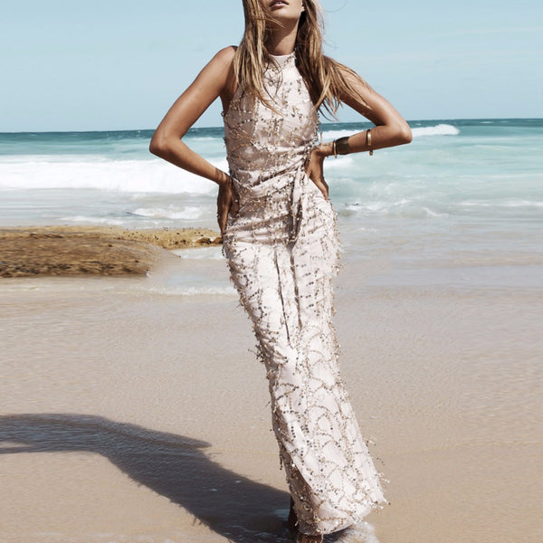 Sequined Halter Top Mermaid Style Destination, Beach Wedding, Party Dress!