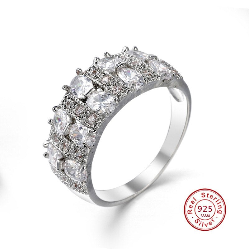 Wide AAA CZ Bridal or Anniversary Band
