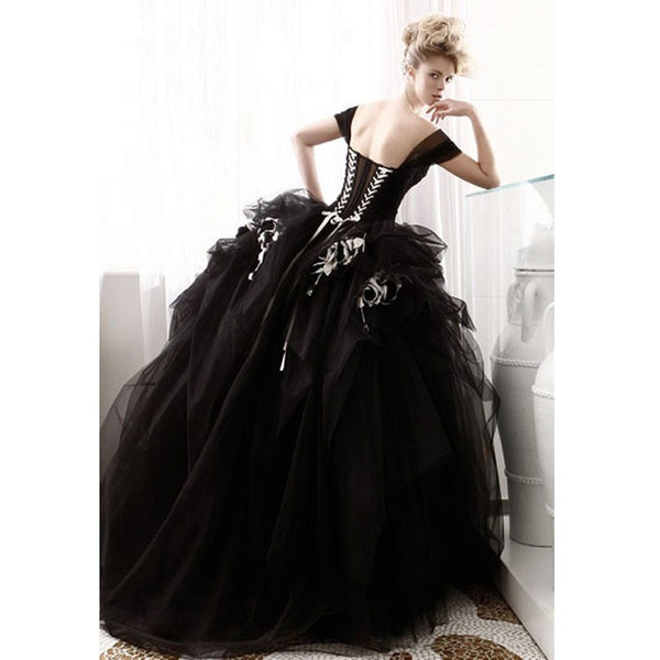 Double Corset Back Tulle Wedding Dress