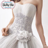 Cinderella Roses Shabby Chic Romantic Wedding Gown – Avail Up to Size 28 W