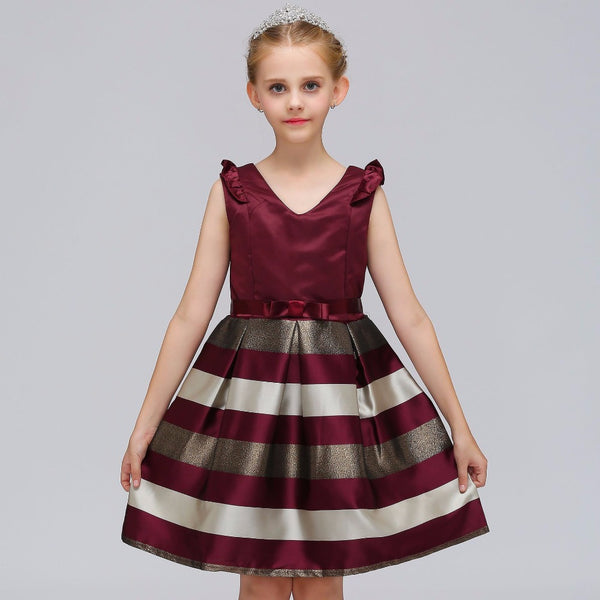 Satin & Stripes Fall/Winter Flower Girl Dress Sizes 2T – 10