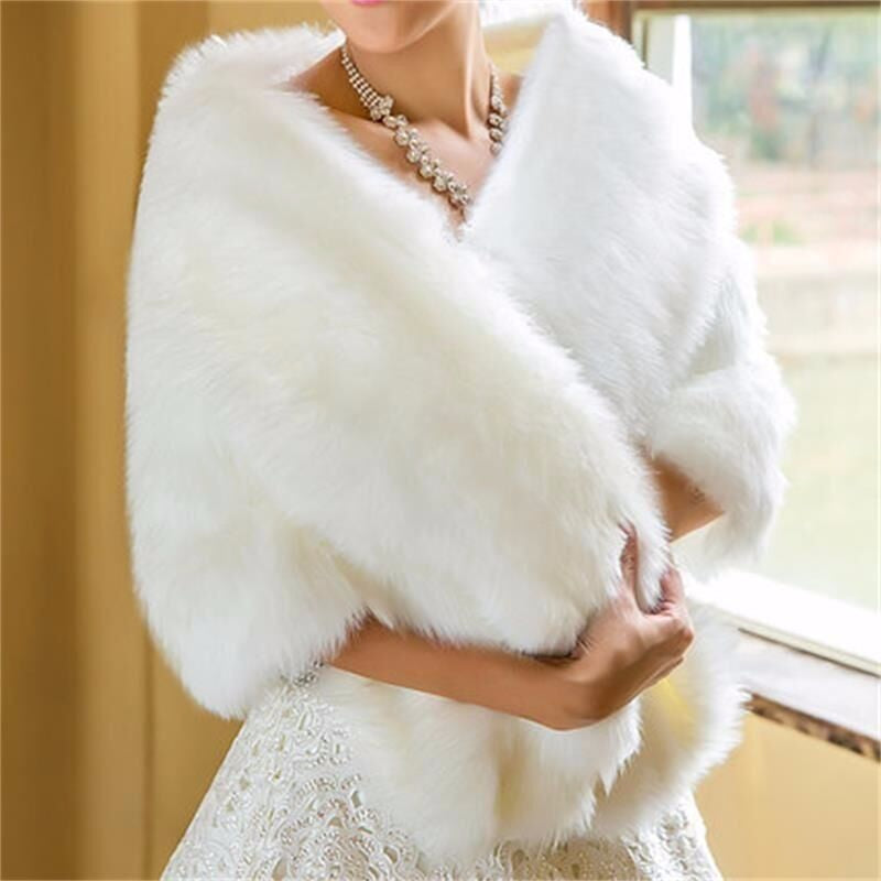 Heavy Faux Fur Bridal Wrap
