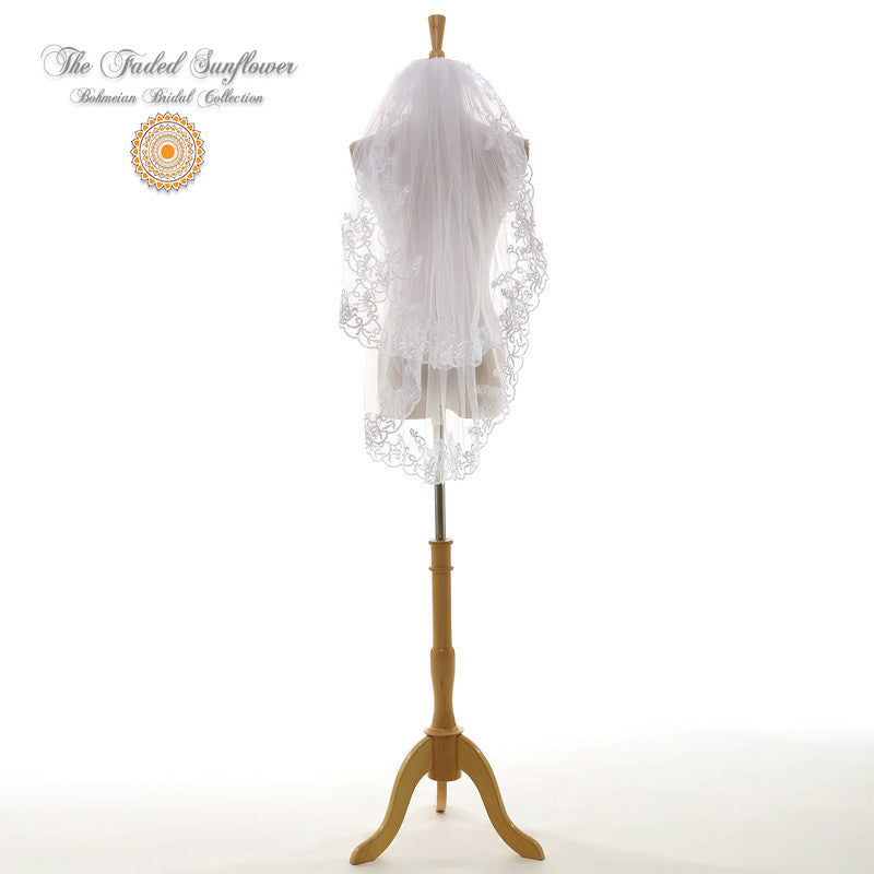 The Fiona - Traditional Bridal Veil