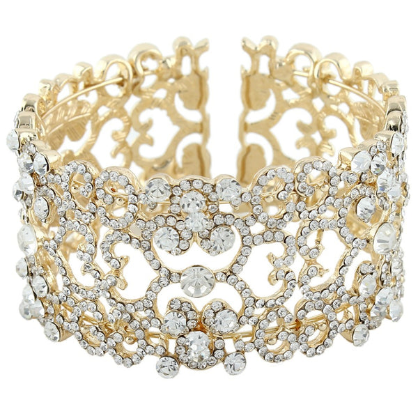 Hearts and Diamonds Bridal Bracelet - Gold