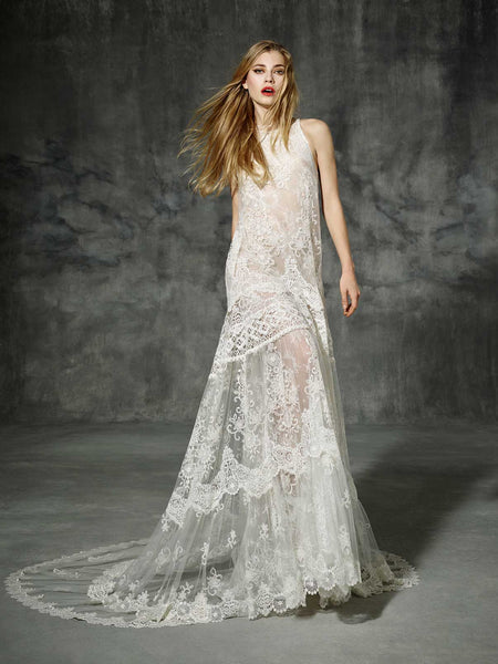 Inspired by Yolan Cris Couture Bridal – Industria  Replica ::  Use Code: BOHO200 For $200 Off & Free US Shipping!