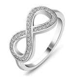 CZ Infinity Ring in 925 Sterling Silver