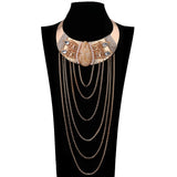 Bohemian Goddess ISIS Gold Collar & Tassel Necklace