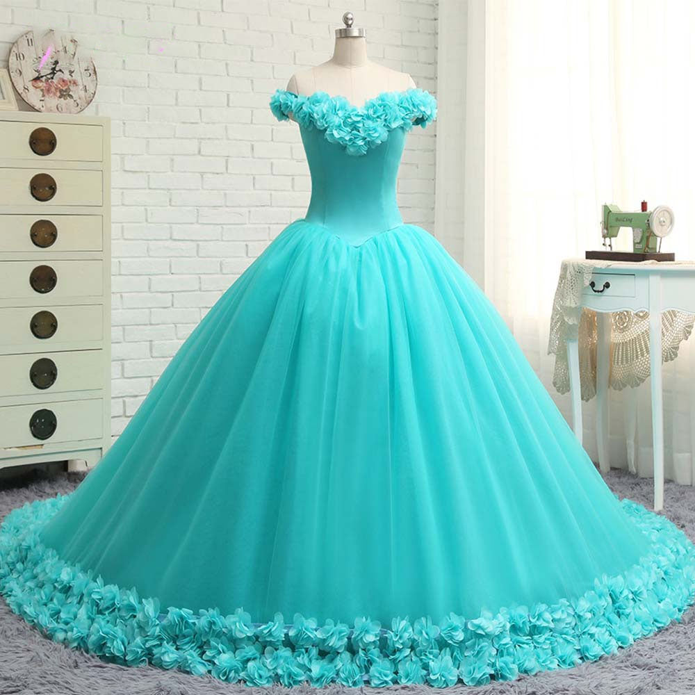 The Kiara :: 3D Floral Quinceanera Ball Gown